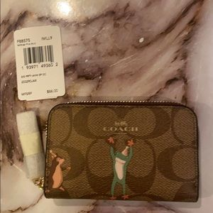Authentic coach party animal small card/wallet